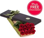 12 Red Roses in a Presentation Box $49.95 (Was $69.95) $59.95 Delivered [NSW Only] @ Freshflowers.com.au