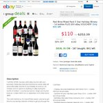 WineMarket 14 Reds from 5 Star Halliday Wineries, $110 Free Delivery + $50 eBay Voucher