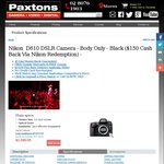 Nikon D610 (Body Only) $1499.95 (after $300.00 Rebate) @ Paxtons