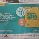 $30 Optus Starter Kit for $10 @ Optus Stores / Woolworths / Dick Smith / Coles and Various