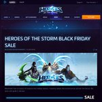 50% off ALL Heroes, Mounts, and Skins | Heroes of the Storm Black Friday Sale