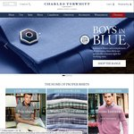 10% off + Free Delivery over $75 at Charles Tyrwhitt
