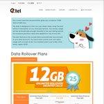 E.Tel $30/28 Days (1st Mth $25) - 2.5GB Data (1st Mth 12GB) w/ Unltd Rollover, Unltd Talk & Text, $30 Intl, Optus 4G ($10 Setup)
