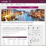 Qatar Airways Europe Sale: Barcelona/Athens/Rome $1215, Venice/Amsterdam $1225, Paris $1265 (Return) + More