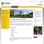 UNSW Library: Free eJournal Access for UNSW Alumni