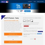 MLB.tv Yearly Premium Subscription $17.99 USD (~ $24 AUD) Normally $25 USD/Month