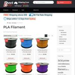 3D Printer Filament PLA 1.75mm 1KG Roll, 15 Colours Available, $21 + $6 Delivery @ Bestbay.com.au