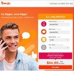 $44.90 - 12GB & Unlim Calls/Text for 3 Months, $29.90 - 6GB & Unlim Calls/Text for 3 Months, $19.90 - 2GB for 2 Months @ Yomojo