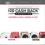 $20 Cashback On FujiFilm Instax Cameras