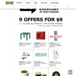 [NSW] IKEA Rhodes 9 Selected Items at $9 Each (Save up to $140)