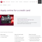 Virgin Money High Flyer Credit Card - Earn up to 120,000 Bonus Velocity Points over 3 Month - Spend $9000 within 90days $289 Fee