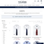 All Shirts $49.95 + Delivery (Free Shipping over $120) @ TM Lewin