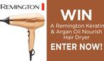 Win 1 of 5 Remington Keratin & Argan Oil Nourish Hair Dryers Worth $79.95 from Seven Network