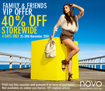NOVO Shoes: 40% Off Storewide Family & Friends VIP Offer
