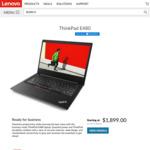 "New Model ThinkPad E480 / 14"" FHD IPS / 8th Gen i7-8550U / 256GB SSD / 8GB RAM / AMD RX550 GPU / $1149 Ship'd @ Lenovo"