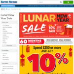 Spend $250+ & Get 10% Back in Gift Cards @ Harvey Norman / Domayne