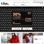 Fashion Frenzy 30% off Storewide + Free Delivery for Orders > $75 @ Glue Store