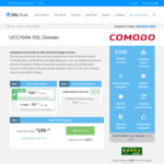 Comodo UCC SSL for Exchange Servers. $47.74 USD 1 Year (~ $73.25 AUD)