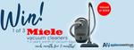 Win 1 of 3 Miele Vacuum Cleaners & Vac Bags Worth $359 from House of Home