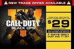 Buy Call of Duty: Black Ops 4 for $29 When Trade 2 Games (XB1, PS4, Switch) @ EB Games