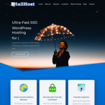 WordPress Hosting Plan US $4.99 (~AU $7) Per Month: SSD Servers, Free SSL, CDN, Worldwide Servers @ HailHost