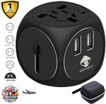20% off International Travel Adapters: Black $25.59, Red $26.39 + Delivery (Free with Prime/ $49 Spend) @ SZROBOY Amazon
