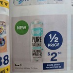 Raw C Coconut Water 1L $2.50, Haribo Bags $1.50, At Least 50% Off Photo Canvases @ Big W