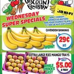 [QLD] Bananas $0.29 kg, R2E2 Extra Large Mangoes Tray $5 @ Northside Discount Fruit Barn (Rothwell)