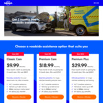 NRMA Roadside Assistance - Free for The First 3 Months (Save 25%, Min Cost $89.91, $170.91, $269.91) & No Joining Fee (Save $55)