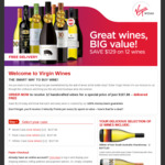 12 Selected Wines (Red/White/Mixed) $107.88 Delivered @ Virgin Wines