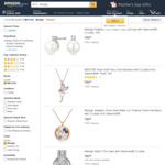 Swarovski Crystals Jewellery - Earrings from $10, Necklaces $15 + Post ($0 with Prime/ $49 Spend) & More @ Mestige Amazon AU