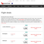 Qantas Flyaway Sale to UK/Ireland: 30% off, Eg $1268 from Sydney to London (Oct 1 - Nov 30, 2019, or Jan 13 - Mar 2