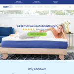 COZYbed Queen Mattress $400 (Retail $1,050) + Free Delivery + Free Returns @ COZYbed.com.au