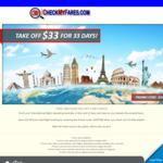$33 off Your Flight Booking @ CheckMyFares.com