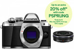 Olympus OM-D E-M10 Mark II Silver Triple Lens Kit - $799 (eBay Plus) and $999 (Non-eBay Plus) @ Camera Store eBay (AU Stock)