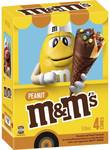 M&M's Peanut Ice Cream Cones 4 Pack | M&Ms Chocolate Ice Cream Cones Multipack 4 $4 (Was $8) @ Woolworths