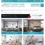 Up to 50% off RRP Storewide + Free Delivery with $500 Spend (Mel, Syd, Bris Metro) @ B2C Furniture