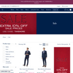Extra 10% off at Charles Tyrwhitt