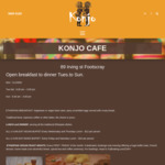 [VIC] All You Can Eat Lunch Buffets, Wed & Thurs $12pp (Vegan), Fri & Sat $15pp (Mixed Buffet) @ Konjo Cafe, Footscray