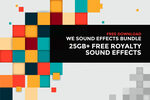 Free: 25GB+ High-Quality Sound Effects for Games, Films & Interactive Projects @ WeSoundEffects