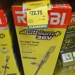 [QLD, Clearance] Ryobi Lithium+ Straight Shaft Cordless Line Trimmer 36V Console $72.75 @ Bunnings, Toombul