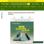 Win an Escape Plus 4E Dome Tent from Outdoor Connection Worth $289.95
