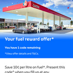 Toyota Owners - Save $0.10/L at Participating Caltex via myToyota App