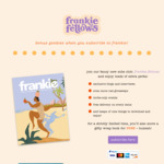 Frankie Magazine Subscription (6 Issues) + Free Gifty Wrap Book $59.50 (Normally $100) @ Frankie Fellows