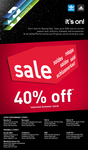 Adidas 40% off Storewide Summer Stock Sale