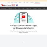Earn 50 Frequent Flyer Points When You Add Qantas Frequent Flyer to Digital Wallet @ Qantas.com