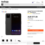 """Google Pixel 4a 5G 6GB/128GB 6.2"""" Smartphone $594.48 Delivered (Grey Import) @ Techinn"""