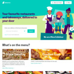 $15 off with No Minimum Spend @ Deliveroo
