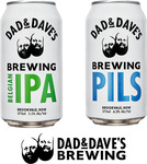 Dad & Dave's 24x Belgian IPA + 24x Pilsner 375ml Cans - 2 Cartons for $100 Delivered (Was $144) @ Dad N Dave's Brewing