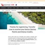 10% Bonus Qantas Points (up to 299,999), 20% Bonus (300,000+) When Transferring Credit Card Points to Qantas